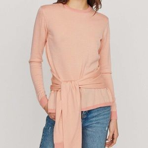 NWT Maje Meryla Thin Wool Tie Sweater